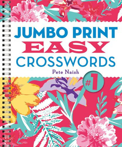 Jumbo Print Easy Crosswords #1 (Large Print Crosswords)