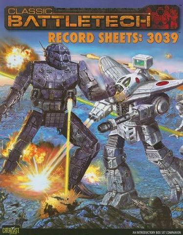 Battletech Record Sheets 3039 *OP*