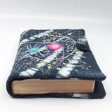 Embroidered silk book cover