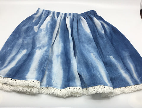Hand Dyed and Sewn Girl's Skirt