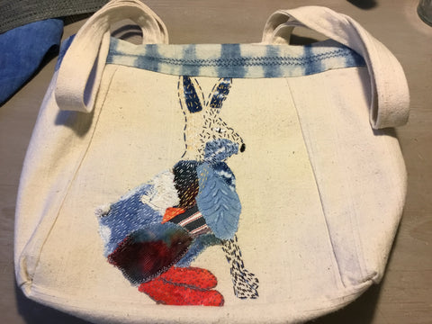 Hand Dyed Tote/Shopping Bag. SOLD