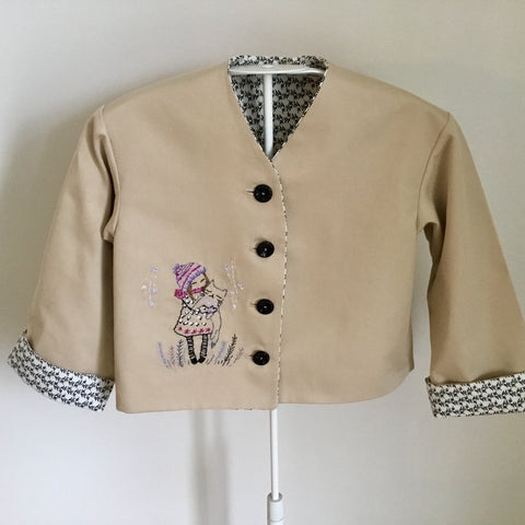 embroidered girl's jacket
