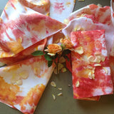 Vintage ice dyed irish linen napkins