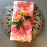 Vintage ice dyed irish linen napkin