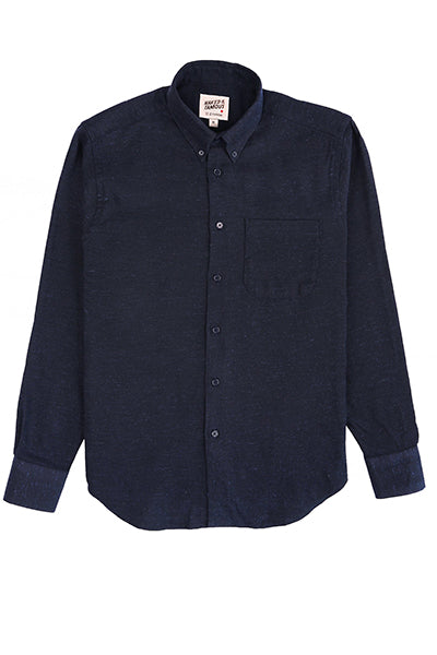 Easy Shirt - Silk Blend - Navy
