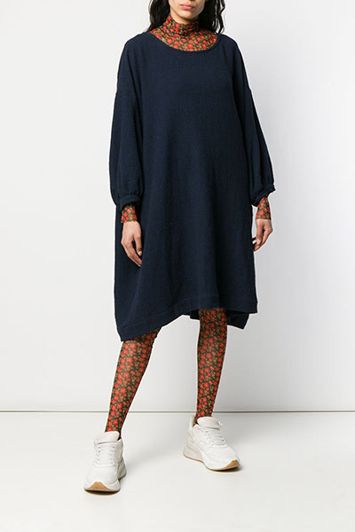 Sprout Dress OS - Navy w Black Check