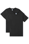 Crew Neck T-Shirt 2 Pack - Black