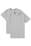 Crew Neck T-Shirt 2 Pack - Grey