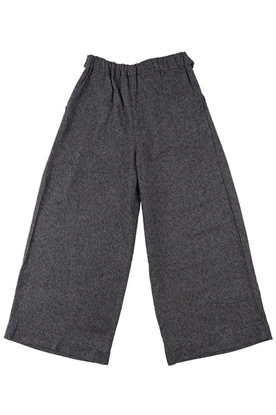 Wide Pant - Charcoal Tweed
