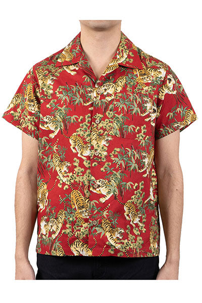 Aloha Shirt - Japanese Tigers