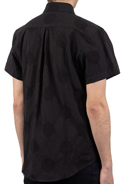 Short Sleeve Easy Shirt - Circle Dobby