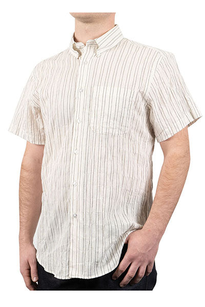 Short Sleeve Easy Shirt - Standard Stripe Ecru