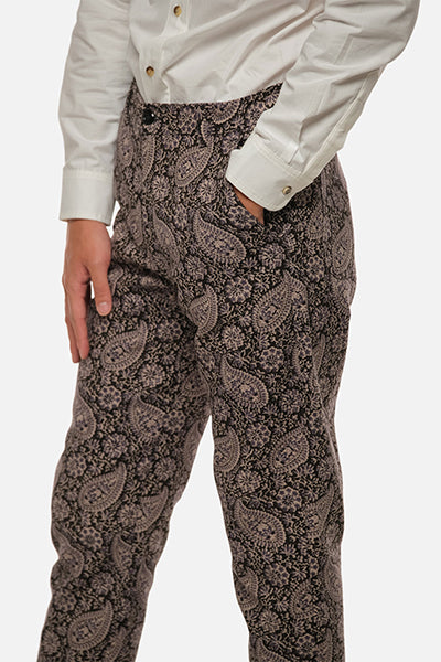 Atlas Trouser - Purple Paisley