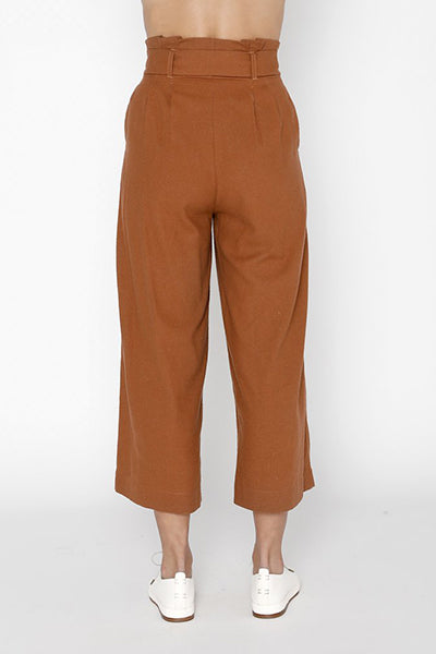 Raw Silk Pleated Trouser