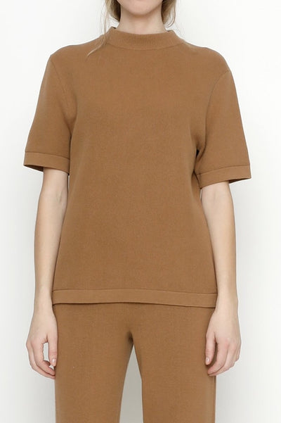 Fine Knit Mock Neck
