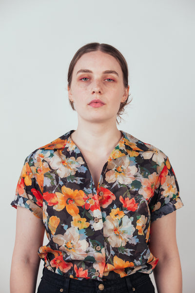 Floral Camp Collar Shirt
