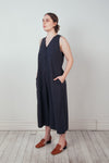 Raw Silk Wide-Legged Jumpsuit