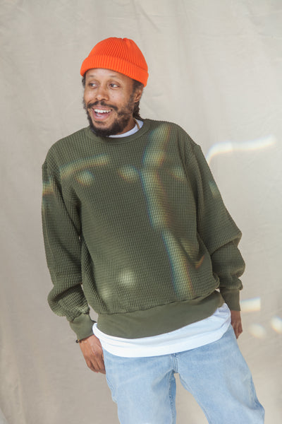 Heavyweight Thermal Crewneck Sweater