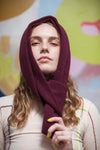 Knitted Sock Stole - Burgundy