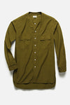 Button Down Typewriter Tunic - Olive