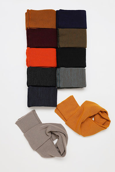 Knitted Sock Stole - Orange