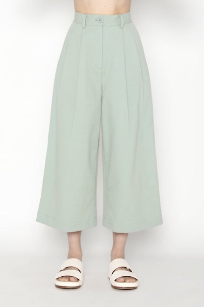 Pleated Skate Trouser - Aqua