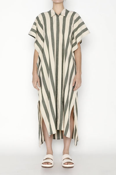 Striped Swing Shirtdress