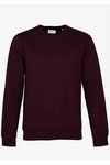 Classic Organic Crew - Oxblood Red
