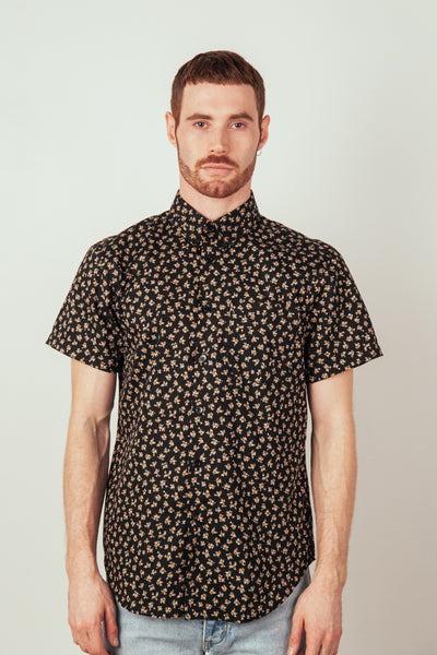 Short Sleeve Easy Shirt Flowers