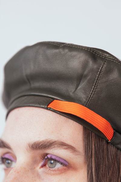 Leather Beret