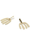 Kamala Earrings Brass