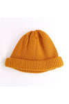 Roll Up Beanie - Gold
