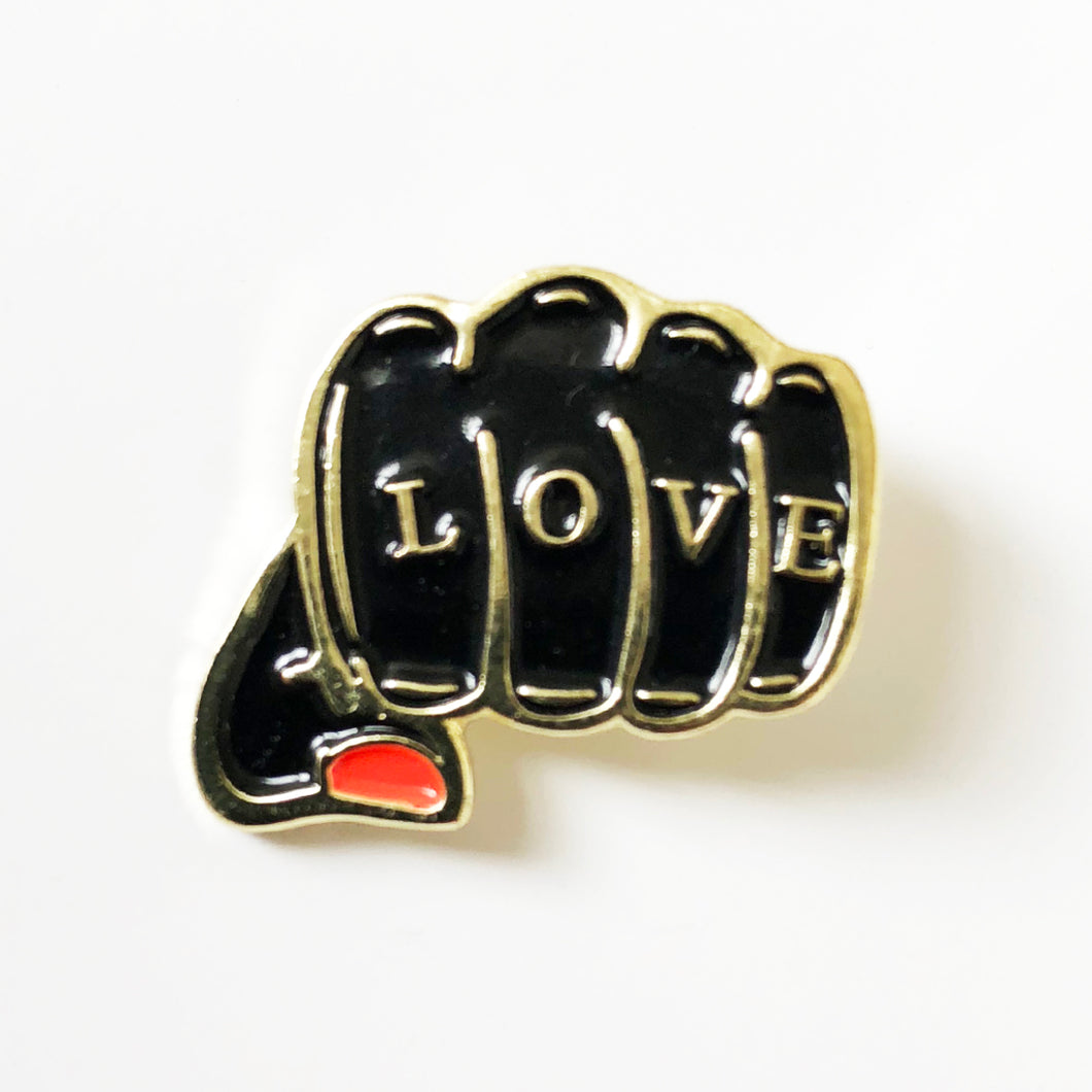 'BLACK FIST' Enamel Pin Badge