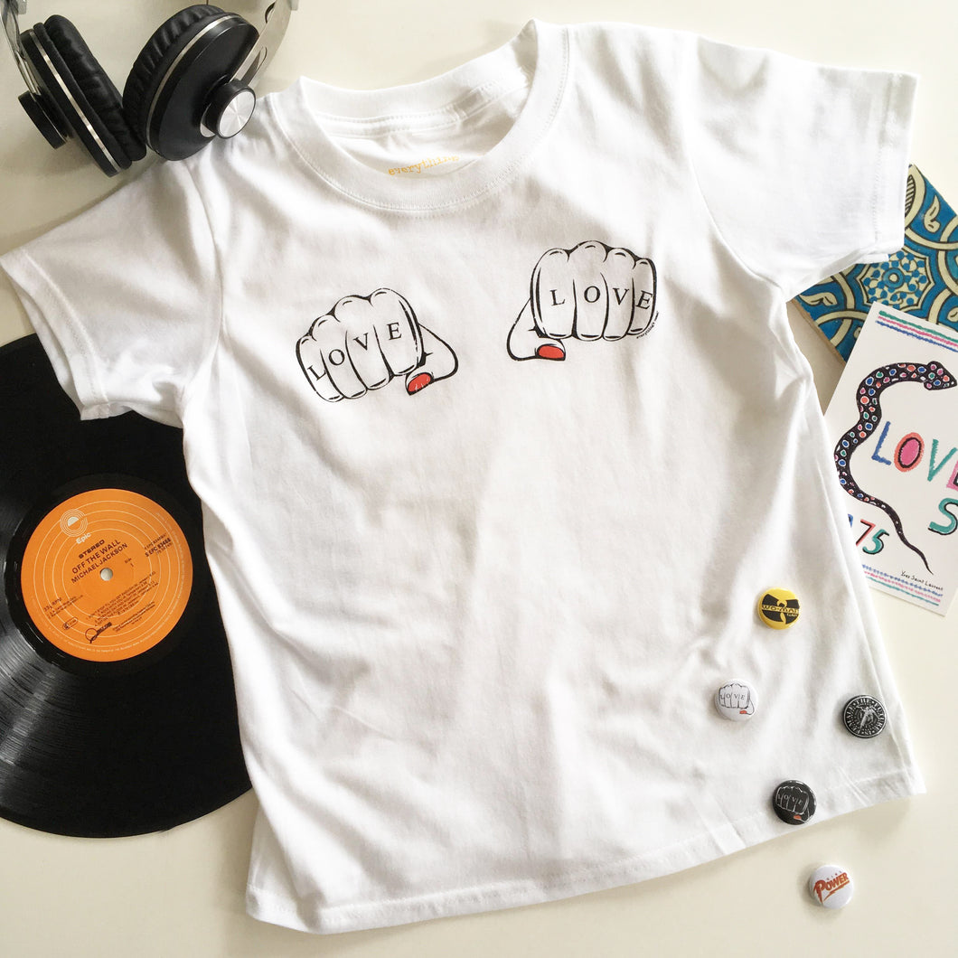 'FISTS OF LOVE' Kids T