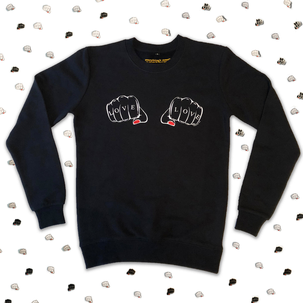 'LOVE PUNCH' Adult Sweat
