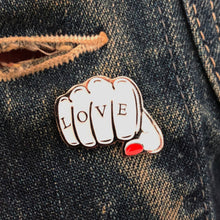'WHITE FIST' Enamel Pin Badge