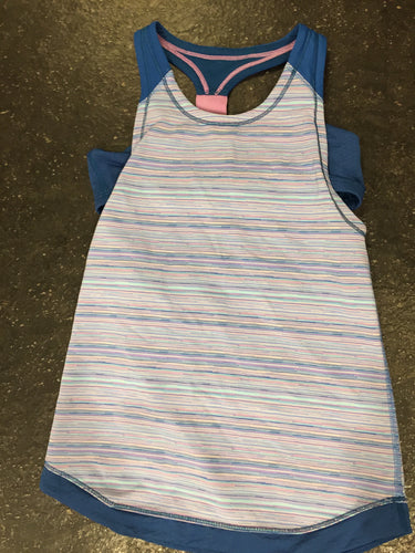 Stirpe Ivivva Tank with Blue Sports Bra Attached Girls Size 8