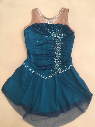 Teal Del Arbor Dress with Custom Stones Ladies Small