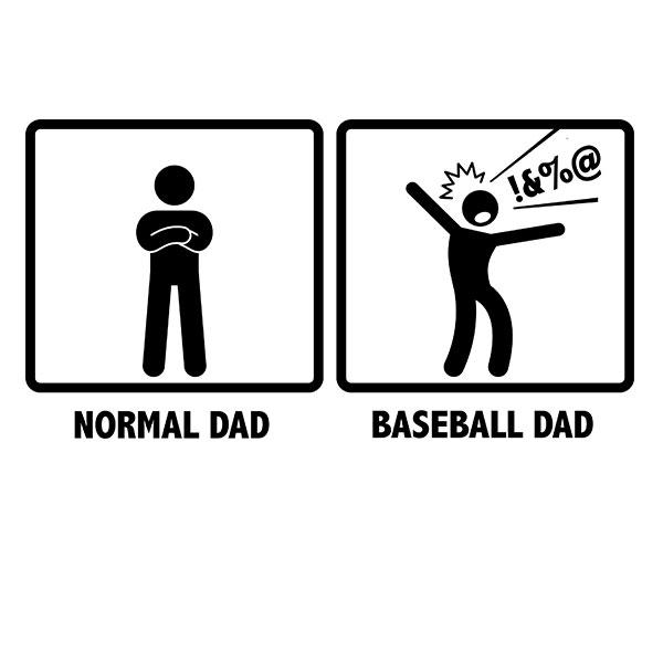 Normal Dad VS. Baseball Dad Gift T-Shirt