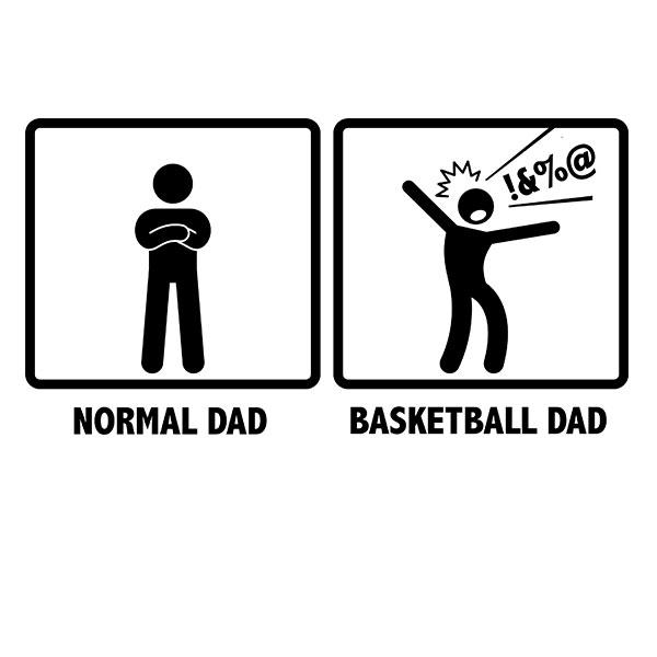 Normal Dad VS. Basketball Dad Gift T-Shirt