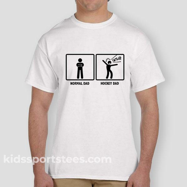 Normal Dad VS. Hockey Dad Gift T-Shirt