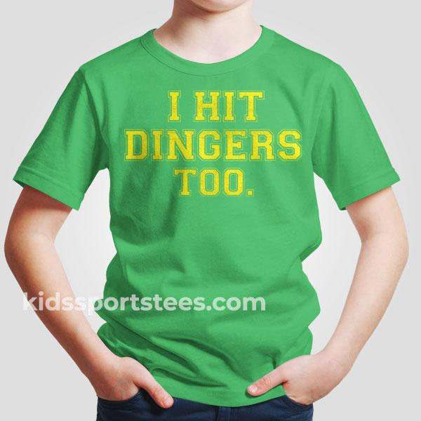 Funny Baseball I hit dingers T-Shirt