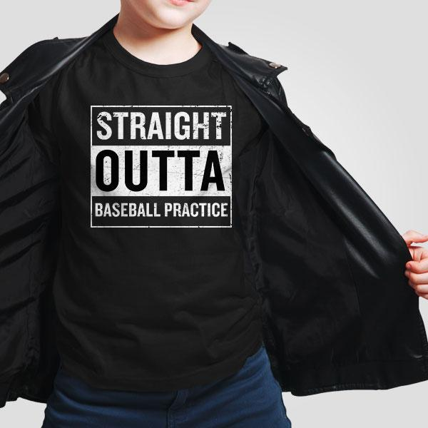 Straight Outta Baseball Practice T-Shirt