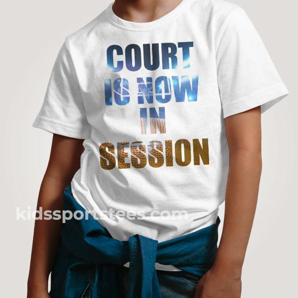 Court is Now in Session Basketball T-Shirt