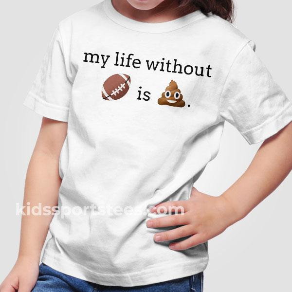 Funny Football Emoji Kids T-Shirt