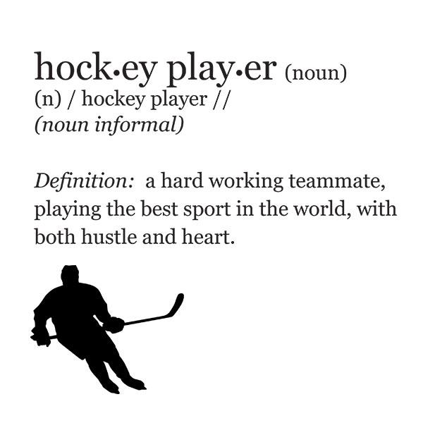 Hockey Player Definition T-Shirt