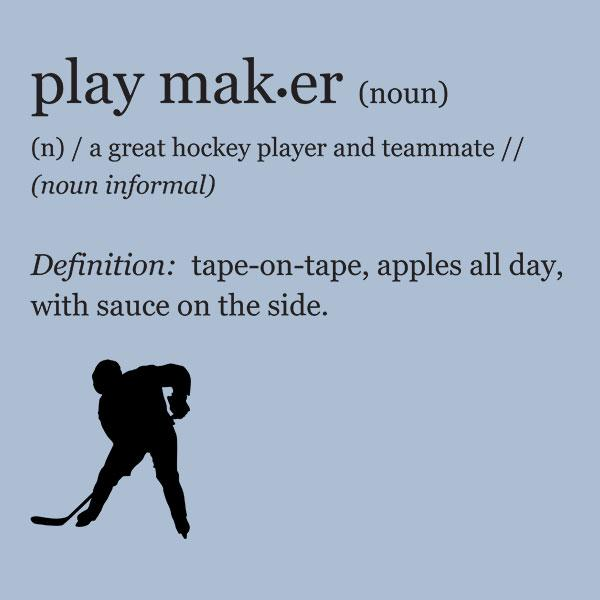 Funny Hockey Playmaker Definition T-Shirt