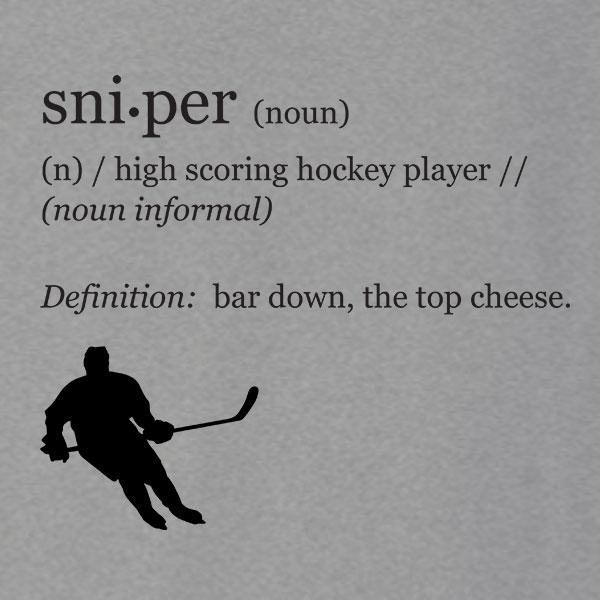 Funny Hockey Sniper Definition T-Shirt