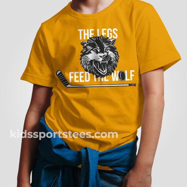 Legs Feed the Wolf Herb Brooks Hockey T-Shirt