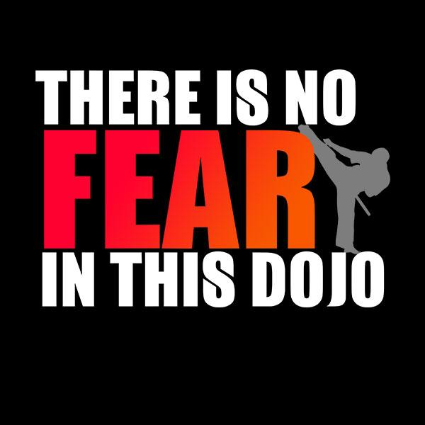 No Fear in this Dojo Martial Arts T-Shirt
